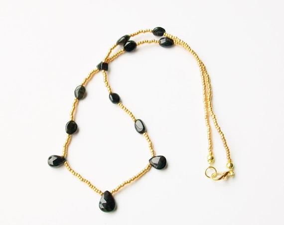 Black Tourmaline Stone Necklace