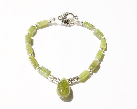 Green Vesuvianite Bracelet