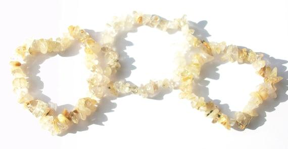 Rutilated Quartz Layered Stretch Bracelets