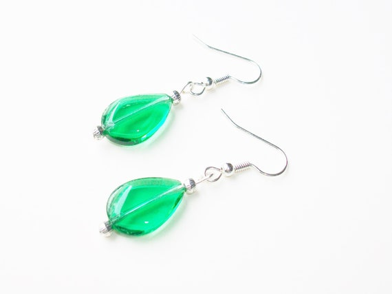 Green & Silver Earrings