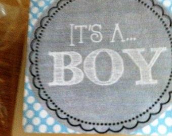 IT's A BOY Baby Shower Soap Favors / SET Of 10