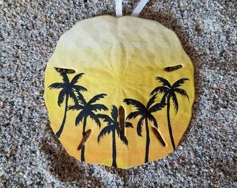 Palm Trees Sand Dollar
