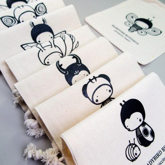 lalylala pequeño bolsa de proyecto. mariposa insectos firefly. | Etsy