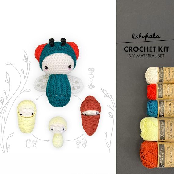lalylala Crochet Pattern Bee Amigurumi, Honey Bumble Bee Poppy ... | 570x570