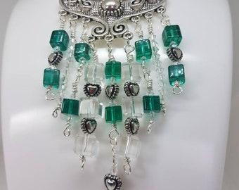 Handmade Statement piece, beautiful collar,  steampunk item, fashion accessory.