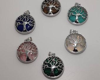 Tree of life. Healing pendant. Chakra pendant.