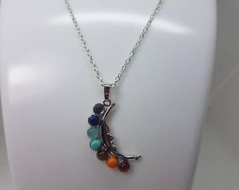 Chakra pendant necklace. Reiki necklace. Chakra Necklace.