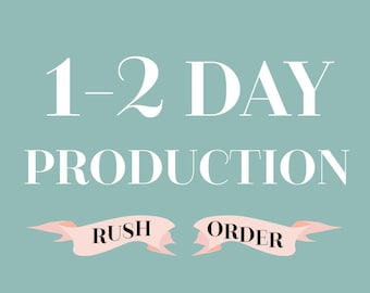Rush mug production time, Production time 1-2  business day, ADD ON