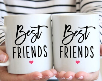Best friend Gift, Gift for Best Friend, Sister gift, gifts for her, coffee mug set, Friendship gift, coffee mug, Best Friends Forever m323