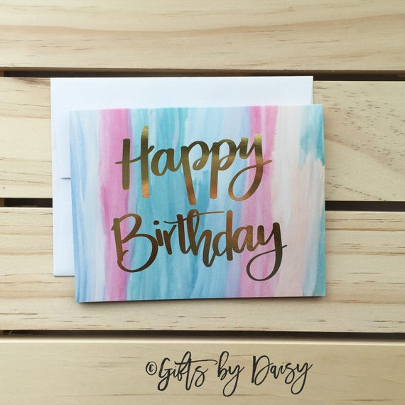 Happy Birthday Card Mom Real Gold Foil