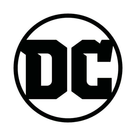 DC Comics Logo Symbol 1 inch 3 inch 5 inch Logo Vinyl   Etsy