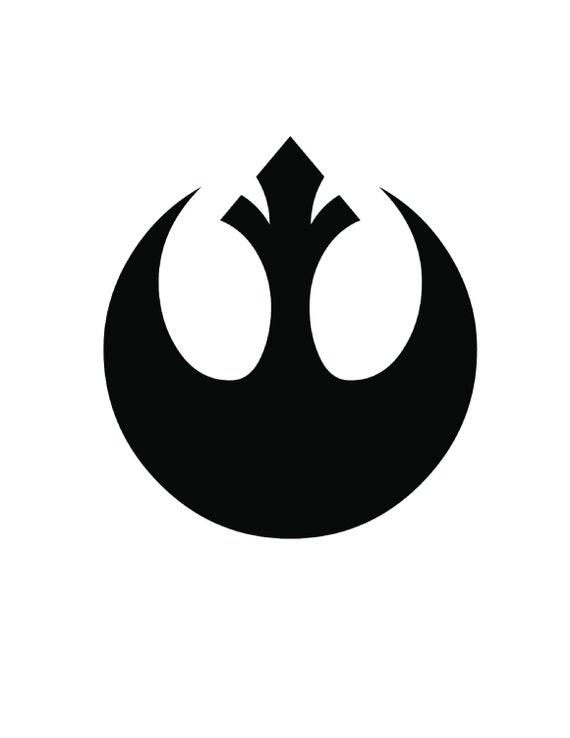 """Rebel Alliance Jedi Order Logo Vinyl Decal Sticker Star Wars WHITE RED 1/""""2/""""3/""""4/"""""""