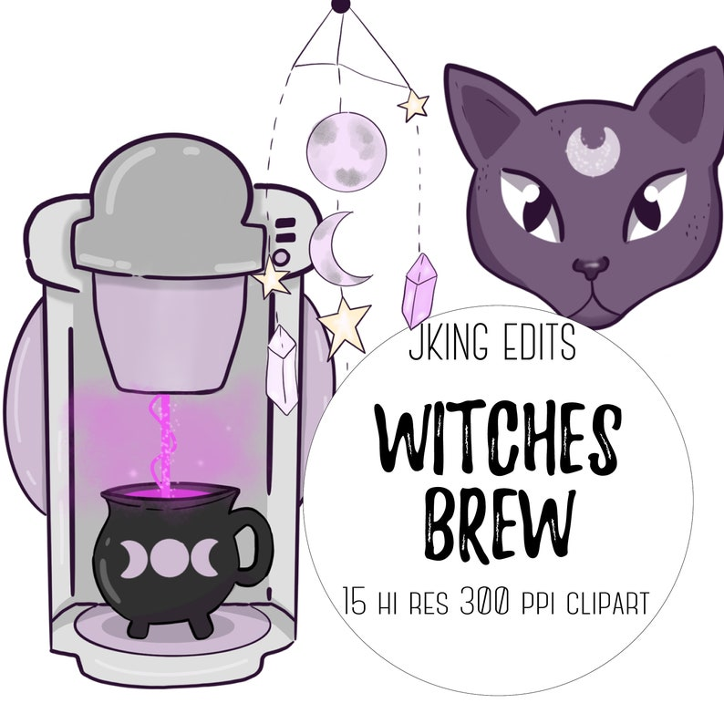 Witches Brew | witchy, coffee, cats, tea, magic potions, autumn vibe,  spooky halloween