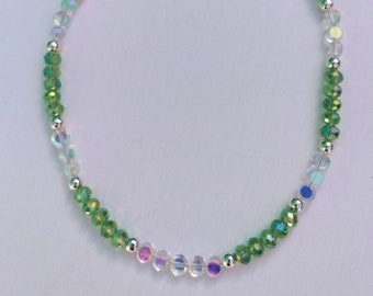 Mint Green Crystal Necklace