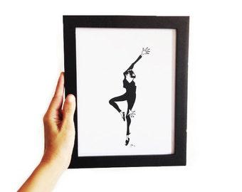 Funny Face #4 • Fashion Illustration   Art Print   Wall Art   Fashion Art   Audrey Hepburn   Original Artwork