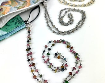 Mask lanyard - glasses chain - unisex chain accessory for glasses or masks - converts to bracelet or necklace - 4 in 1 piece