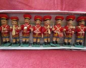 Handmade Wooden Indian Marching Band Figures