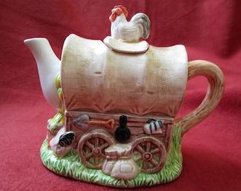 Covered Wagon Tea Pot