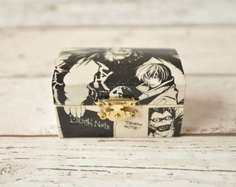 Death Note Jewelry Box | Manga Gift | Wedding Ring Box | Cufflink Box | Geeky Wedding | Horror Gift | Manga Home Decor | Anime Gift | Ryuk