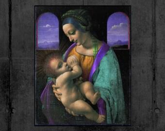 Madonna V - Da Vinci Portrait Reimagined Extra Large Fine Art Print - Wall Art / Home Decor / Hallway / Office / Room / Shop / Painting
