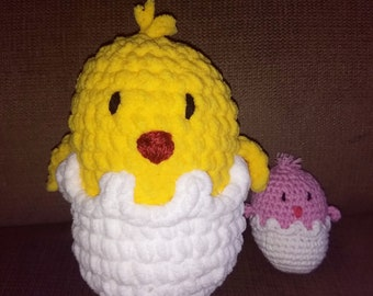 Large plush Easter hatching chick
