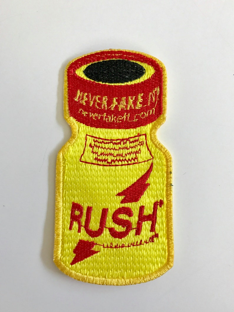 Rush poppers sew on embroidered patch image 0