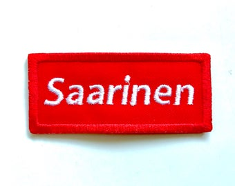 Saarinen sew on embroidered patch
