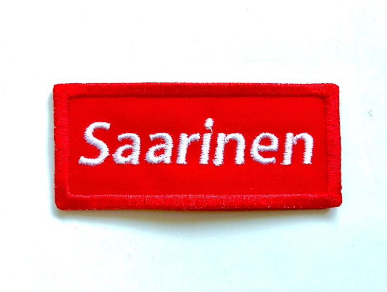 Saarinen sew on embroidered patch image 0