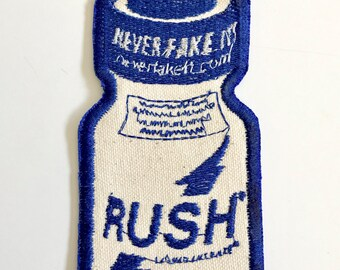 Cool Mint Rush poppers sew on embroidered patch. LIMITED EDITION.