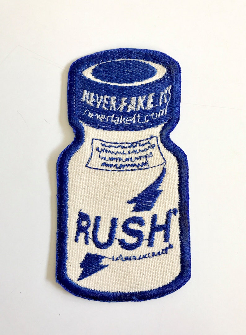 Cool Mint Rush poppers sew on embroidered patch. LIMITED image 0