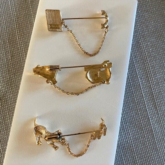 CHATELAINE PINS antique chatelaine dansers.Art Nouvea pins.