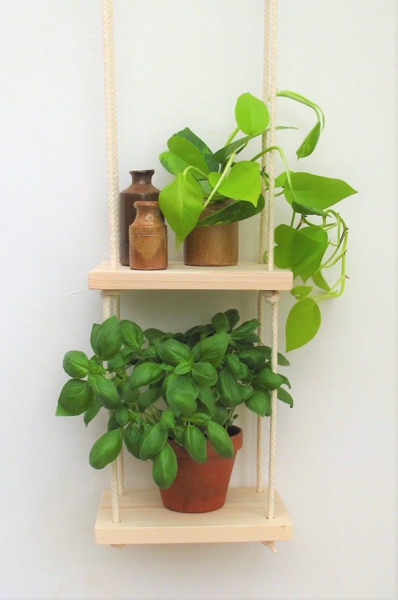 Hanging Shelf Kitchen Herb Garden Windowsill Herb Garden Etsy