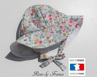 Chapeau bob bébé liberty Betsy Porcelaine ( baby summer hat ) 38e532ed458