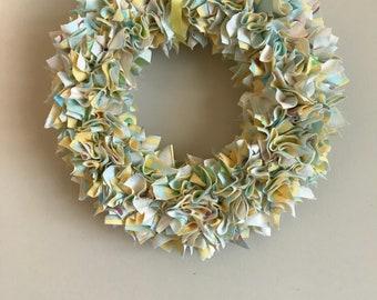 Baby fabric wreath