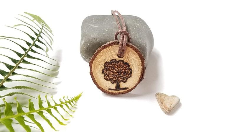 Tree Hugger Gift Wood Burning of Tree on Sustainable Wood image 0