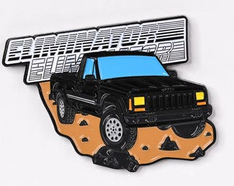 Jeep Comanche Pickup Truck Soft Enamel Lapel Pin - Black Eliminator Hat Pin Retro Flair Cherokee Wrangler 4x4 Offroad