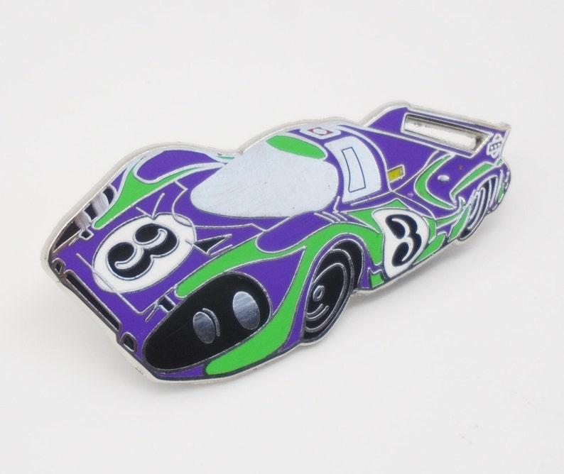 Porsche 917 LT Hippie Enamel Lapel Pin Hat Pin Le image 0