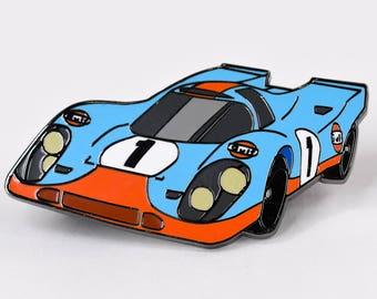 Gulf Porsche 917 Hard Enamel Lapel Pin Hat Pin 24 Hrs of Daytona Auto Racing Memorabilia