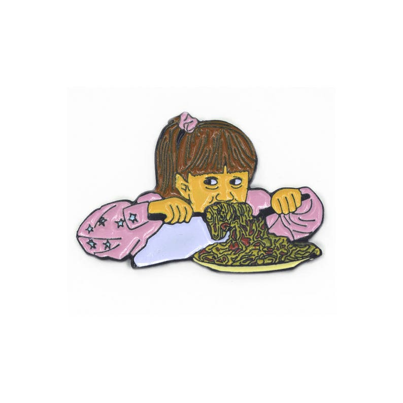 Full House OH BOY SPAGHETTI Michelle Tanner Soft Enamel Pin image 0
