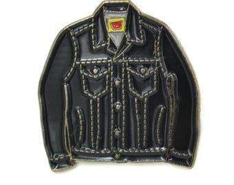 Mini Denim Jacket Soft Enamel Pin - Black/Dark Grey Trim cute pin, lapel pin, retro hipster Tiny Levi's jean jacket