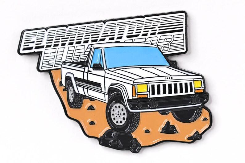 Jeep Comanche Pickup Truck Soft Enamel Lapel Pin  White image 0