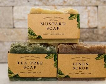 Gift ideas for her grandma gift gift set gift for mom gift soap scrub soap for women for girlfriend vegan gift exfoliating soap acne soap
