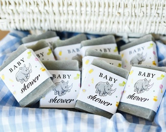 Rhino baby shower baby shower favors Rhino soap favors safari baby shower thank you gift guest soap thank you favors jungle baby shower soap