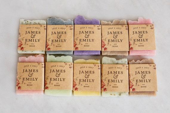 100 Wedding Soap Favors Luxury Wedding Favor Personalized Etsy