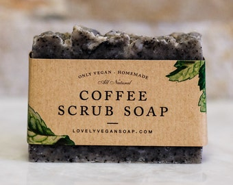 Coffee scrub soap needs mom exfoliating soap coffee scrub scrub soap vegan coffee soap acne soap homemade all natural soap cleansing soap