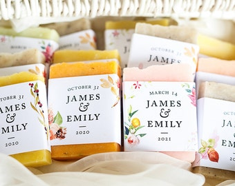 Wedding soap favors mini soap autumn wedding gift personalized favors gift for guests flower wedding favor baby shower bridal shower favors