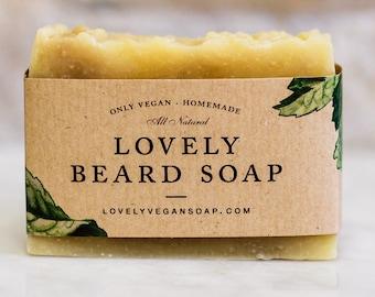Homemade Beard Soap under 10 dollars beard gift for man beard care vegan soap gift for him gift for man for boyfriend beard wash vegan gift