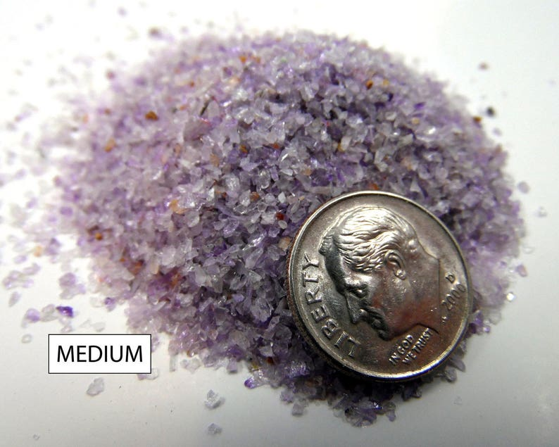 Crushed Amethyst for Inlays Woodworking Pen Turning Artists image 0