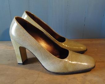 Chaussures à talons hauts en cuir italien Vintage b588d118746d