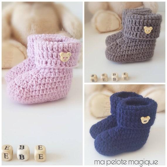 Botines bebe lana regalo de nacimiento | Etsy